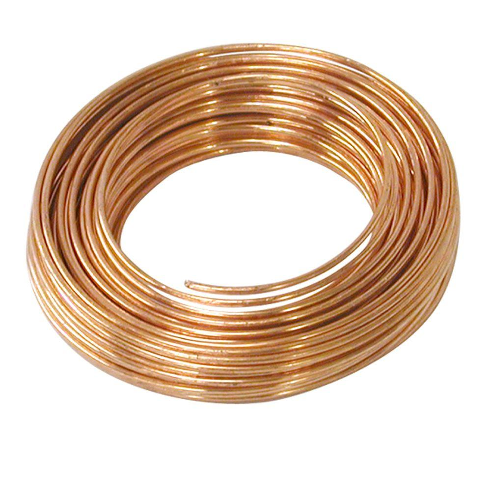 Ook 25 Ft 18 Gauge Copper Hobby Wire 50161 The Home Depot