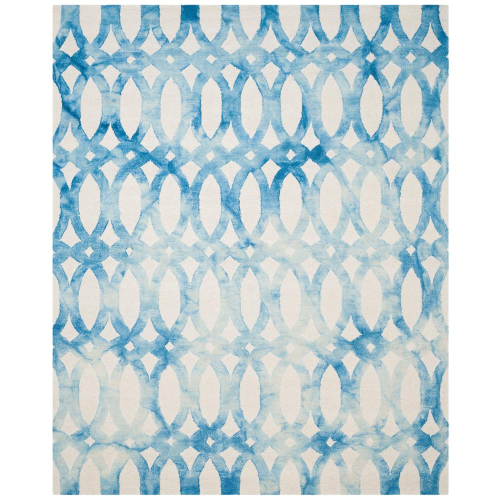 Dip Dye Ivory/Blue 8 ft. x 10 ft. Area Rug