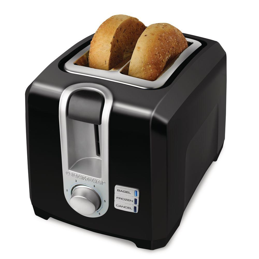 BLACK+DECKER 2-Slice Toaster in Black-DISCONTINUED