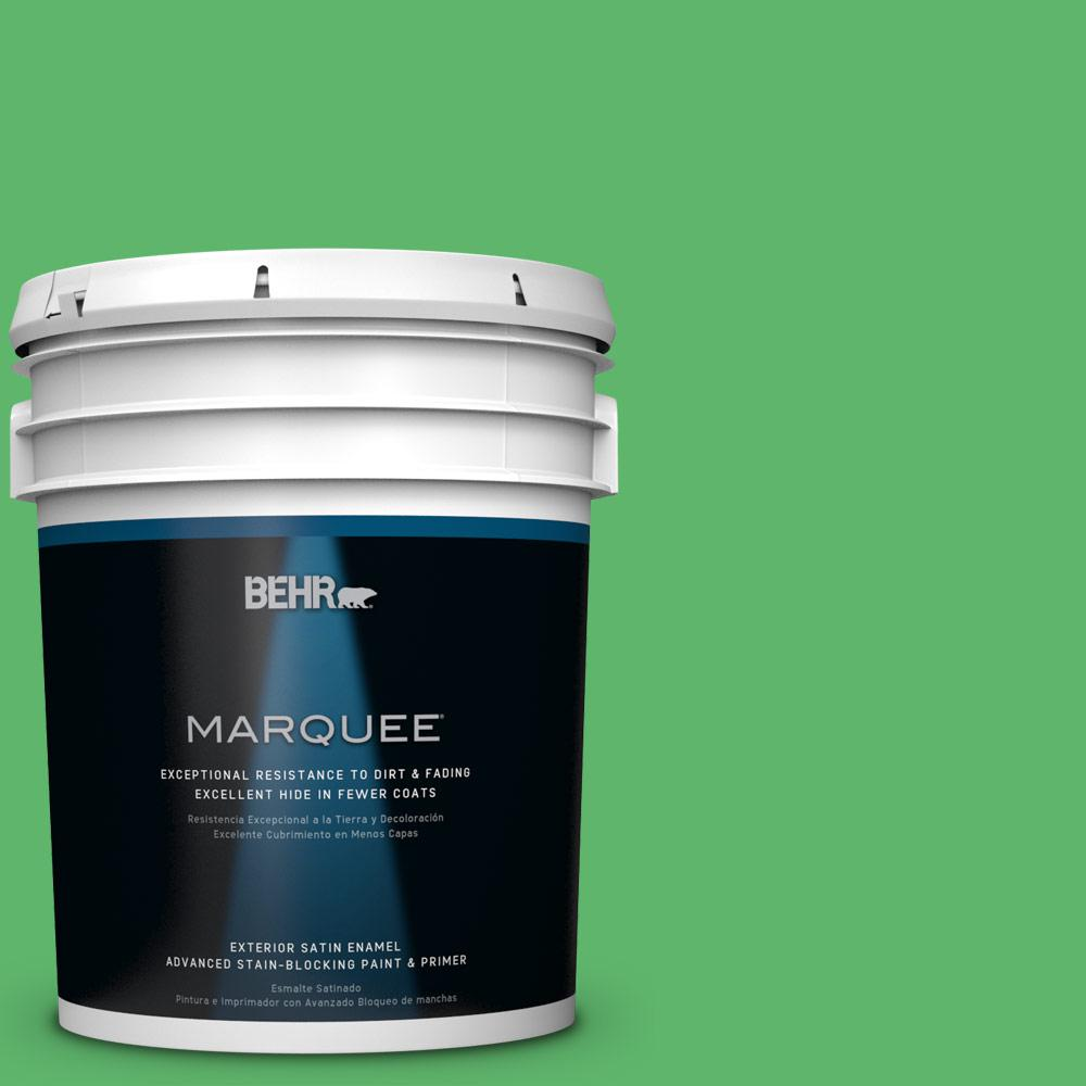 BEHR MARQUEE 5-gal. #P390-6 Lawn Party Satin Enamel Exterior Paint-945305 -