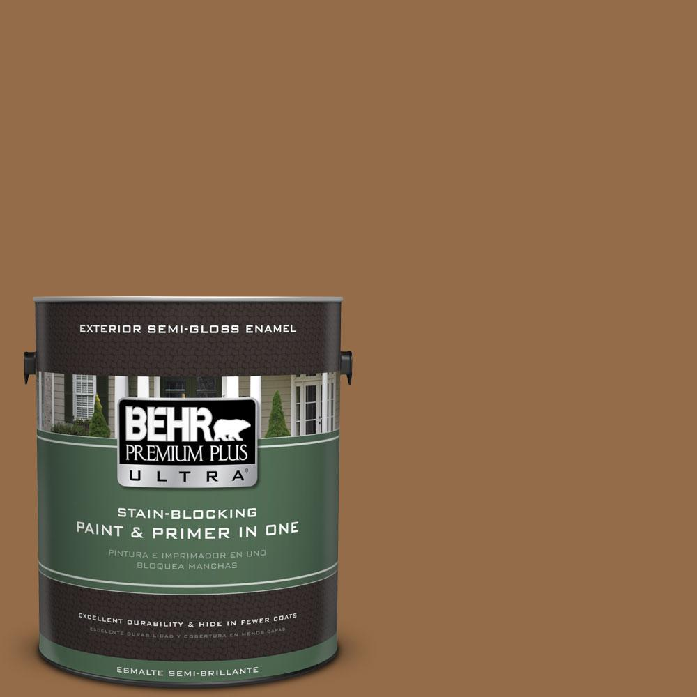 1-gal. #S260-7 Nugget Gold Semi-Gloss Enamel Exterior Paint