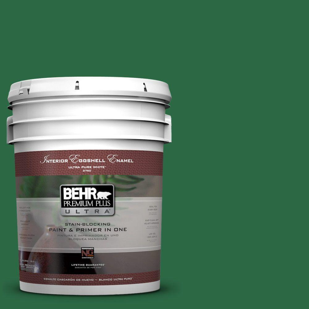 BEHR Premium Plus Ultra 5-gal. #S-H-460 Chopped Chive Eggshell Enamel Interior Paint