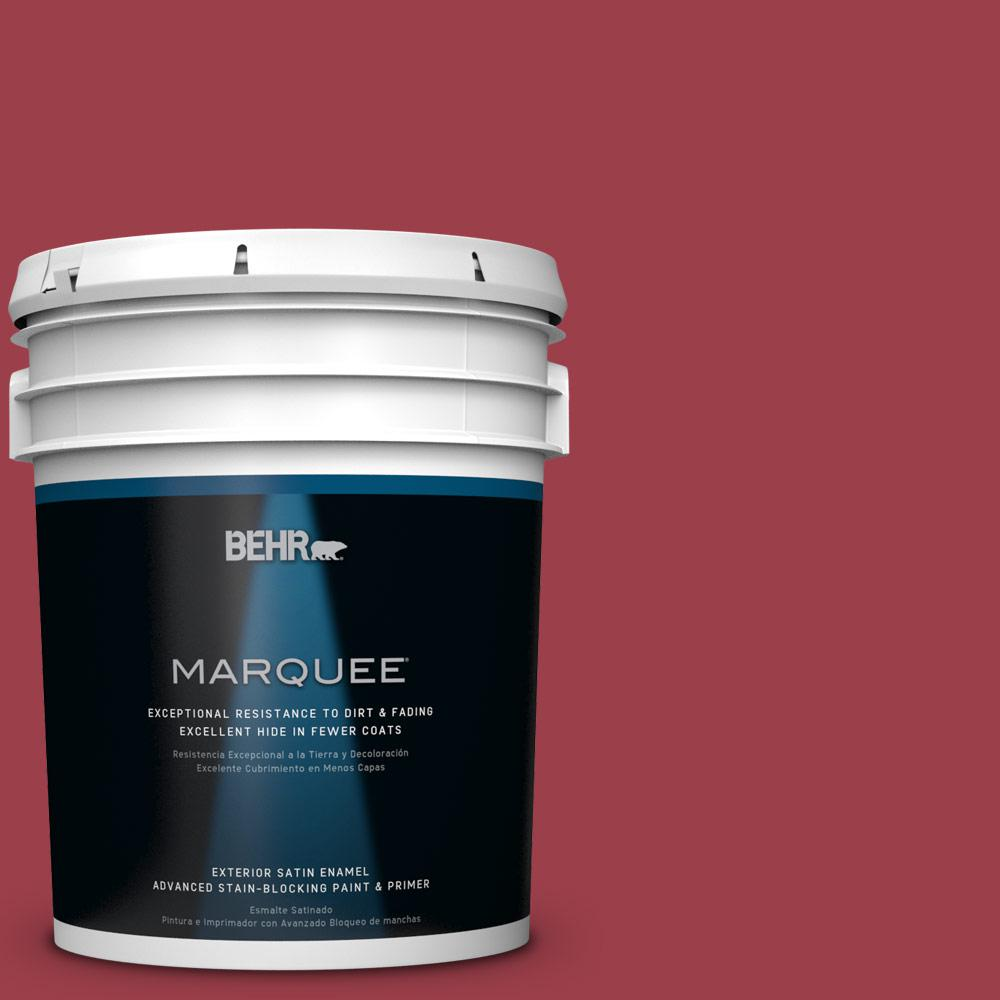 BEHR MARQUEE 5-gal. #HDC-CL-01 Timeless Ruby Satin Enamel Exterior Paint-945305
