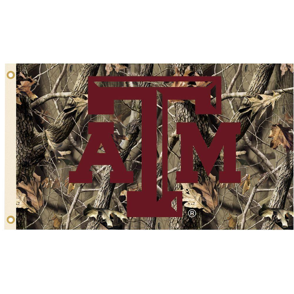 NCAA 3 ft. x 5 ft. Realtree Camo Background Texas A&M