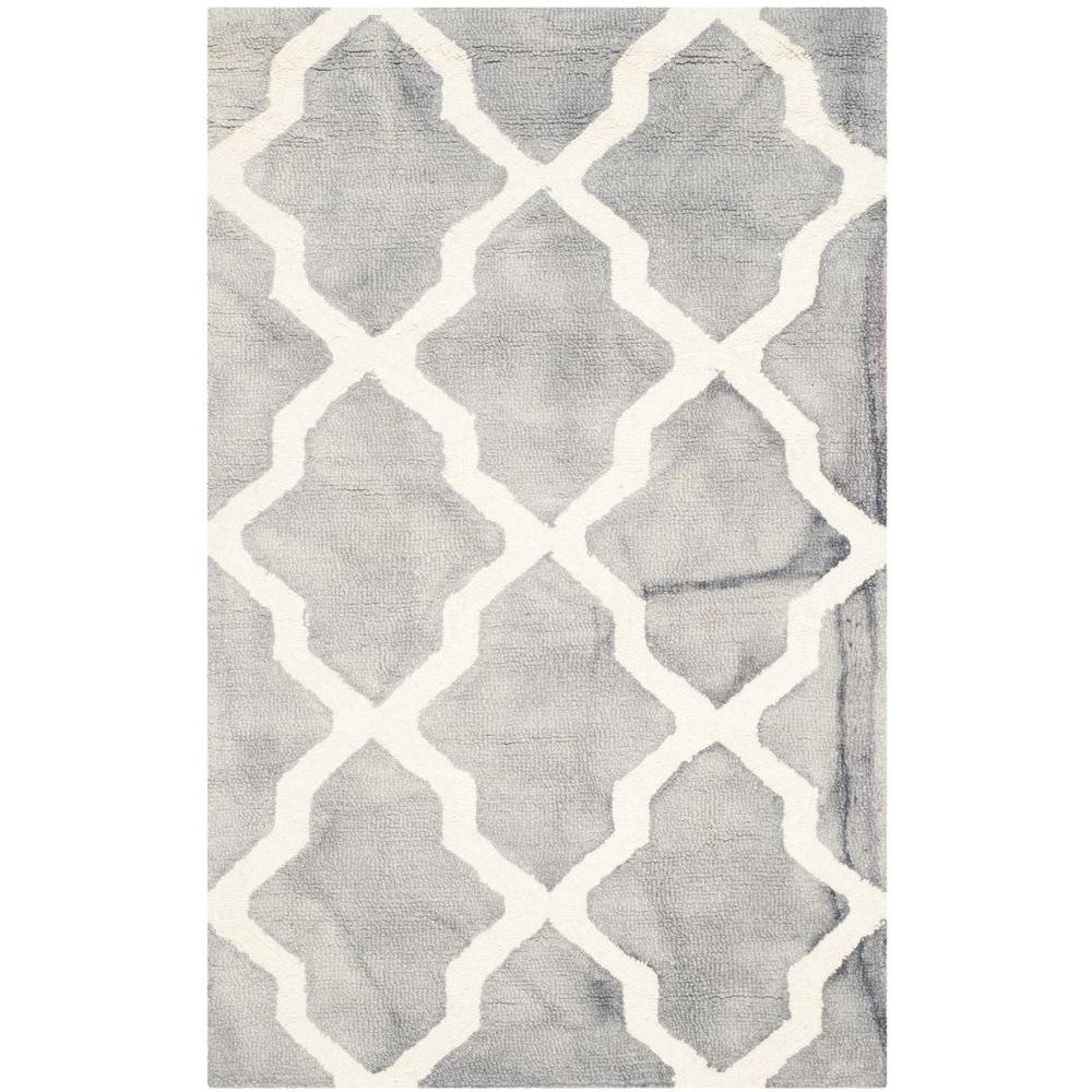 Dip Dye Grey/Ivory 2 ft. 6 in. x 4 ft. Area