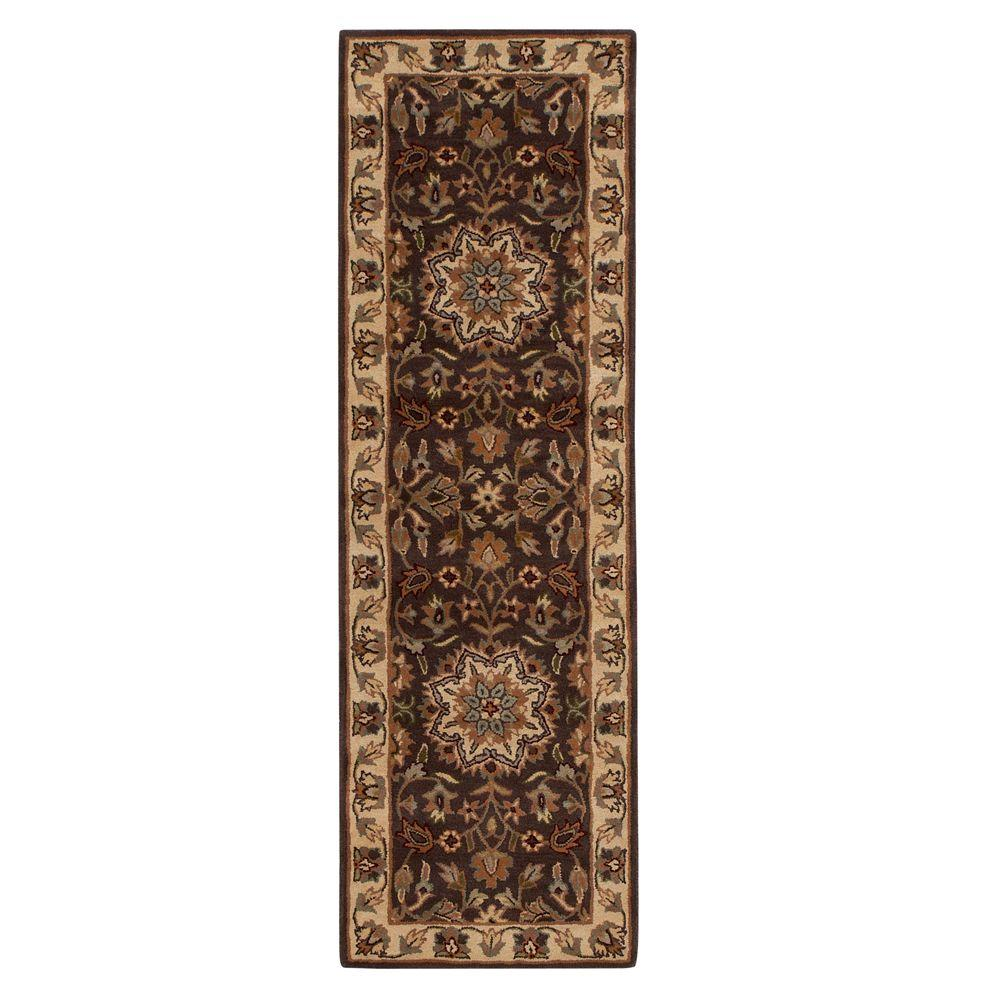 Home Decorators Collection Earley Brown/Ivory 2 ft. 3 in. x 11 ft. 6 in. Rug Runner