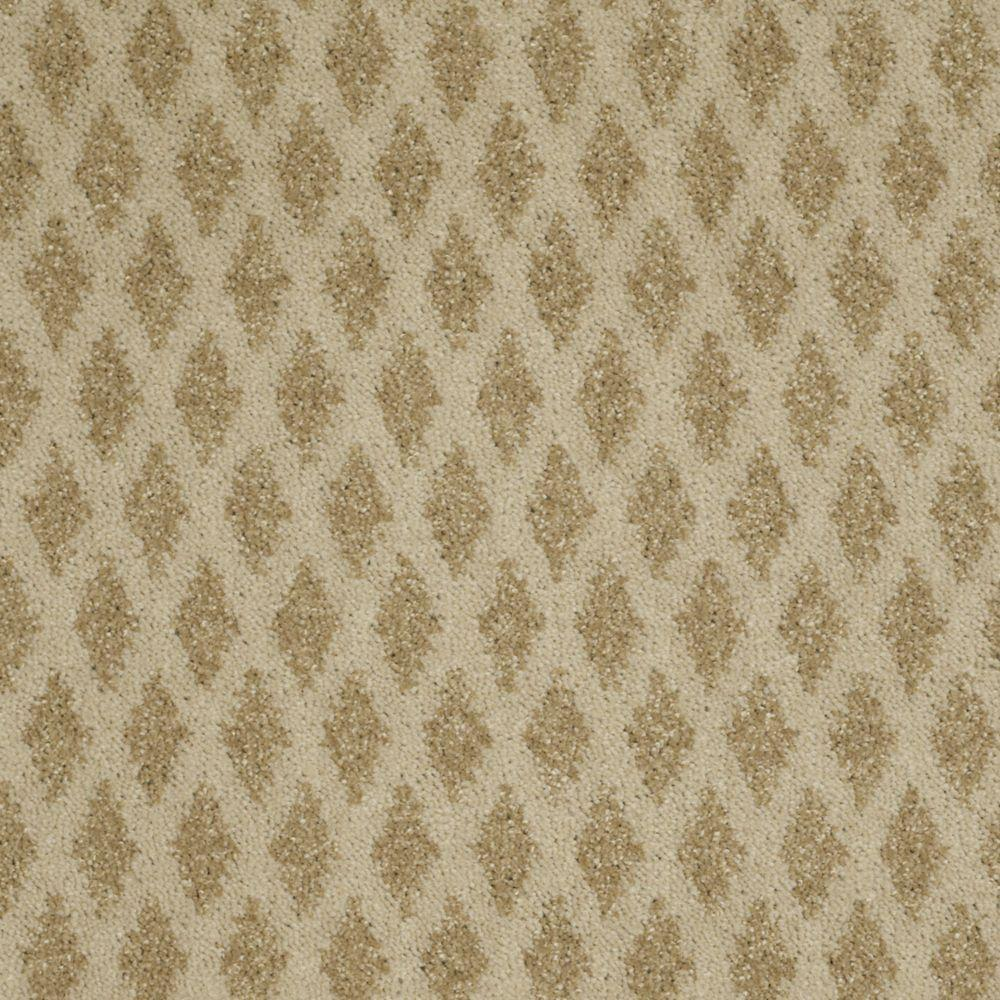 Martha Stewart Living Mayfield Valley - Color Nutshell 6 in. x 9 in. Take Home Carpet Sample-DISCONTINUED