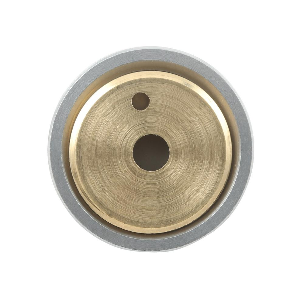Outside Diameter Cast Brass 10 Piece Convex Rubber Bumper Prime-Line Products MP4647 Stop Pack of 10 1 in Brushed Chrome Finish Wall Mount
