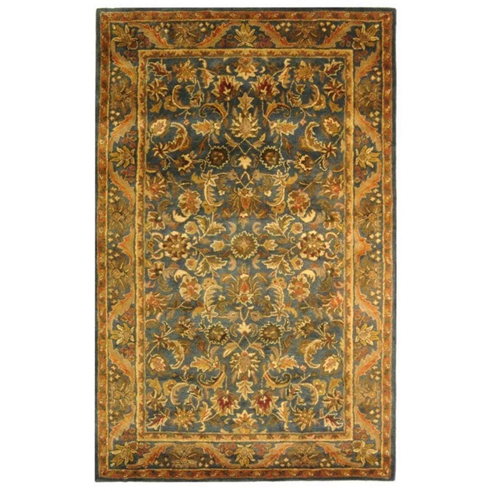 Antiquity Blue/Gold 6 ft. x 9 ft. Area Rug