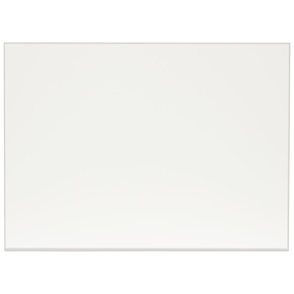 0.1875x34.5x48 in. Decorative End Panel in Satin White