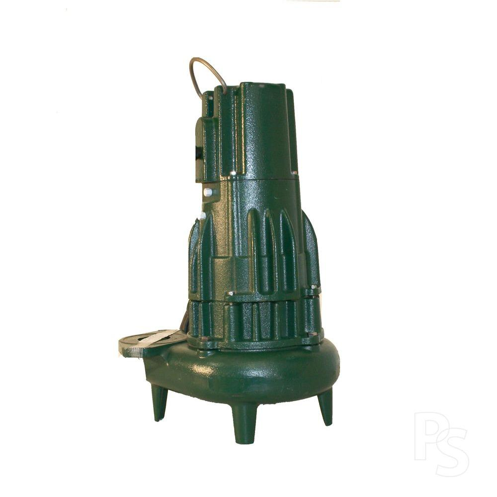 Zoeller Waste-Mate 2 in. Discharge E284 1 HP Submersible Sewage or Dewatering Non-Automatic Pump-DISCONTINUED