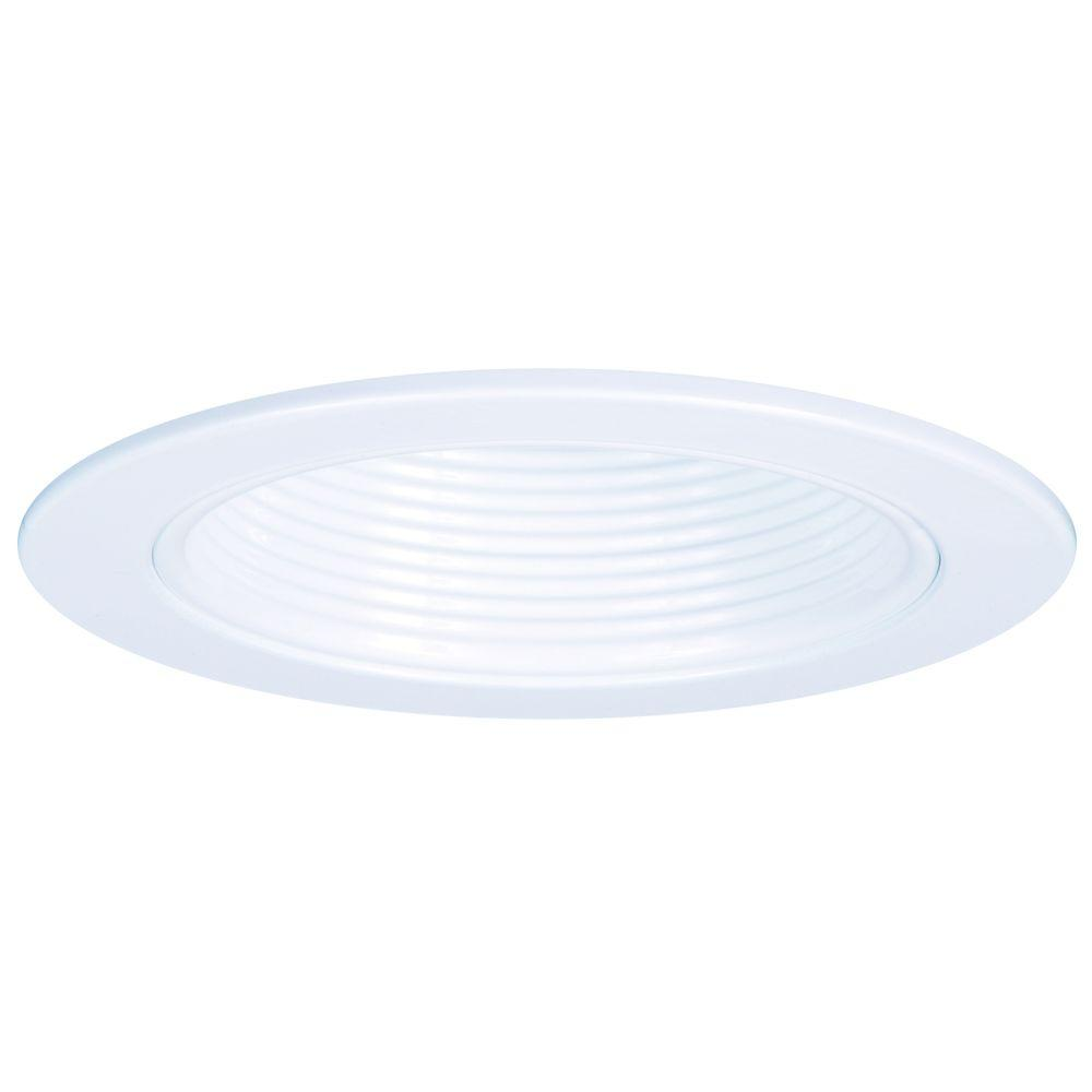E26 Series 4 in. White Recessed Lighting Plastic Step Baffle with