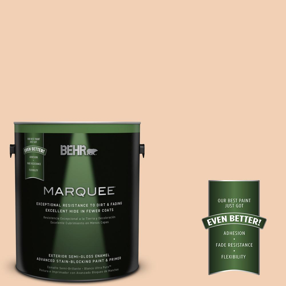 BEHR MARQUEE 1-gal. #PPU3-7 Pale Coral Semi-Gloss Enamel Exterior Paint