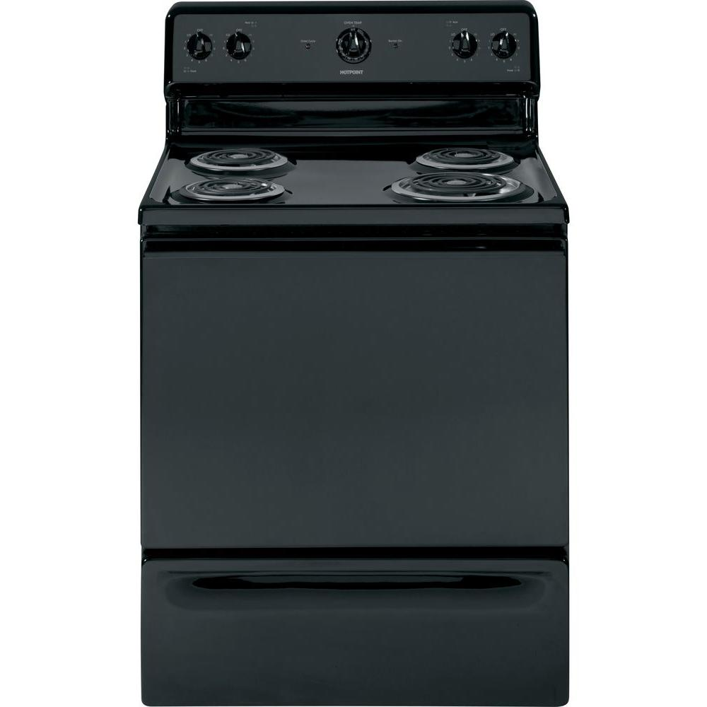 Hotpoint 5.0 cu. ft. Electric Range in Black