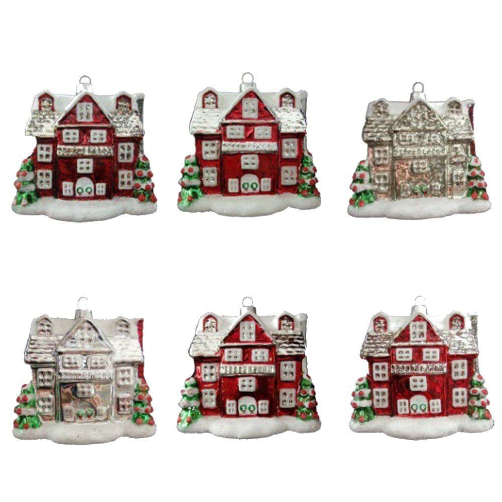 Martha Stewart Living Winter Tidings House Ornament (12-Count)-HEGL31 - The Home
