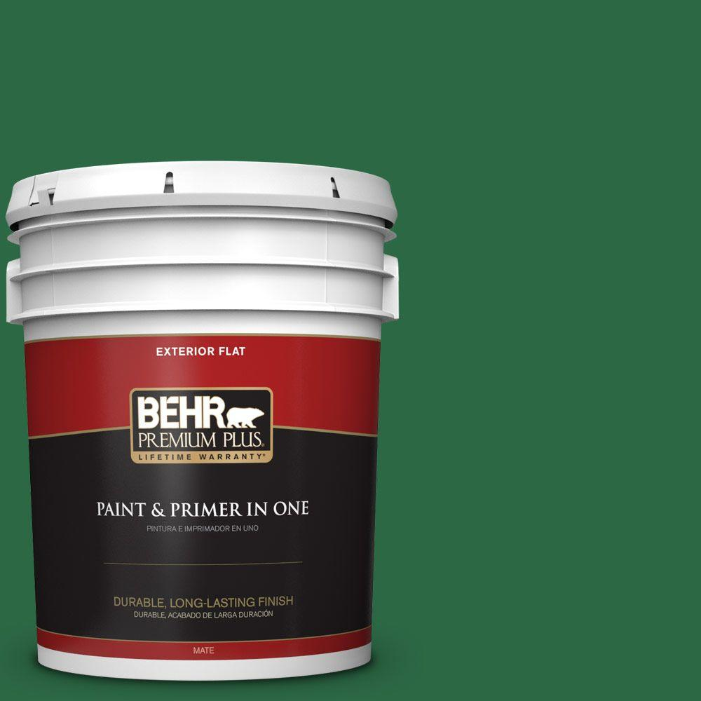 5-gal. #S-H-460 Chopped Chive Flat Exterior Paint