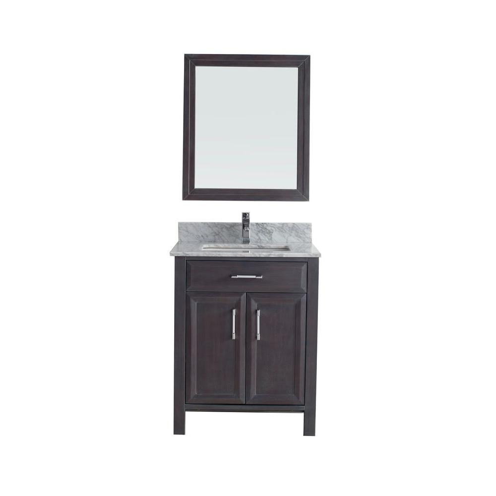 Studio Bathe Calais 28 in. Vanity in French Gray with Marble