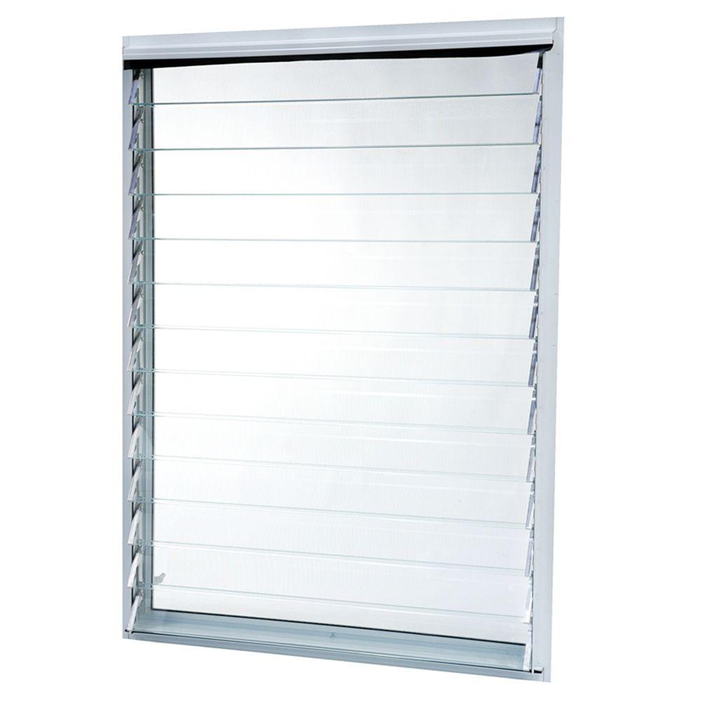 Tafco windows jalousie aluminum utility windows 36 in x for 1 x 3 window