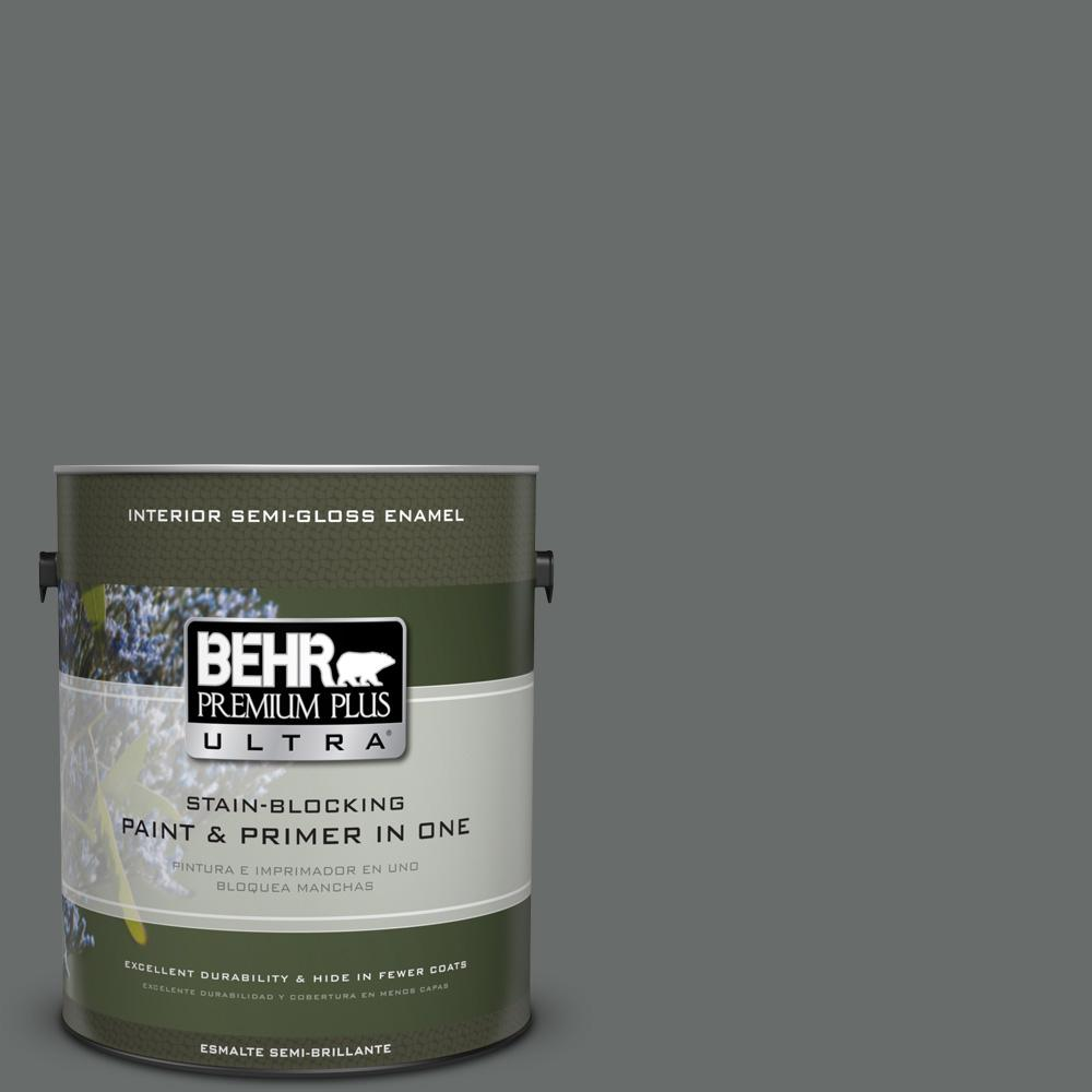 1 gal. #PPU25-03 Shadows Semi-Gloss Enamel Interior Paint
