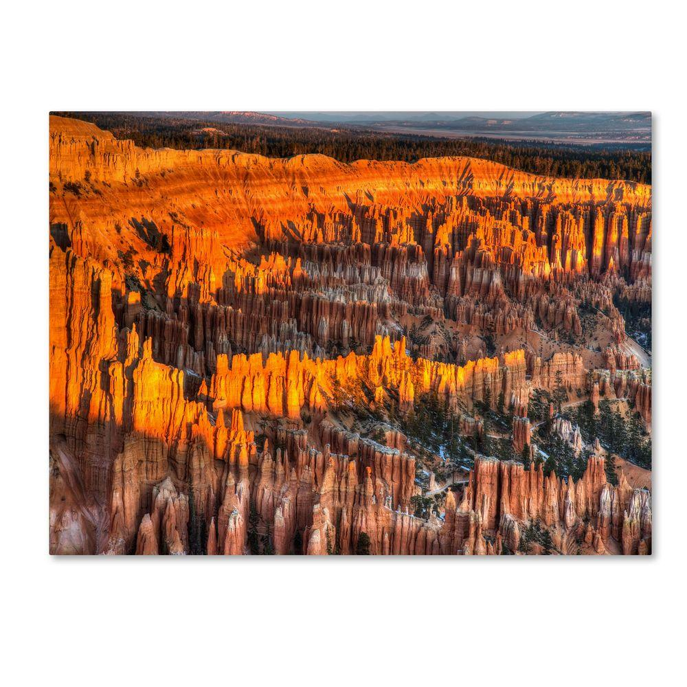 null 22 in. x 32 in. Bryce Canyon Sunrise Canvas Art