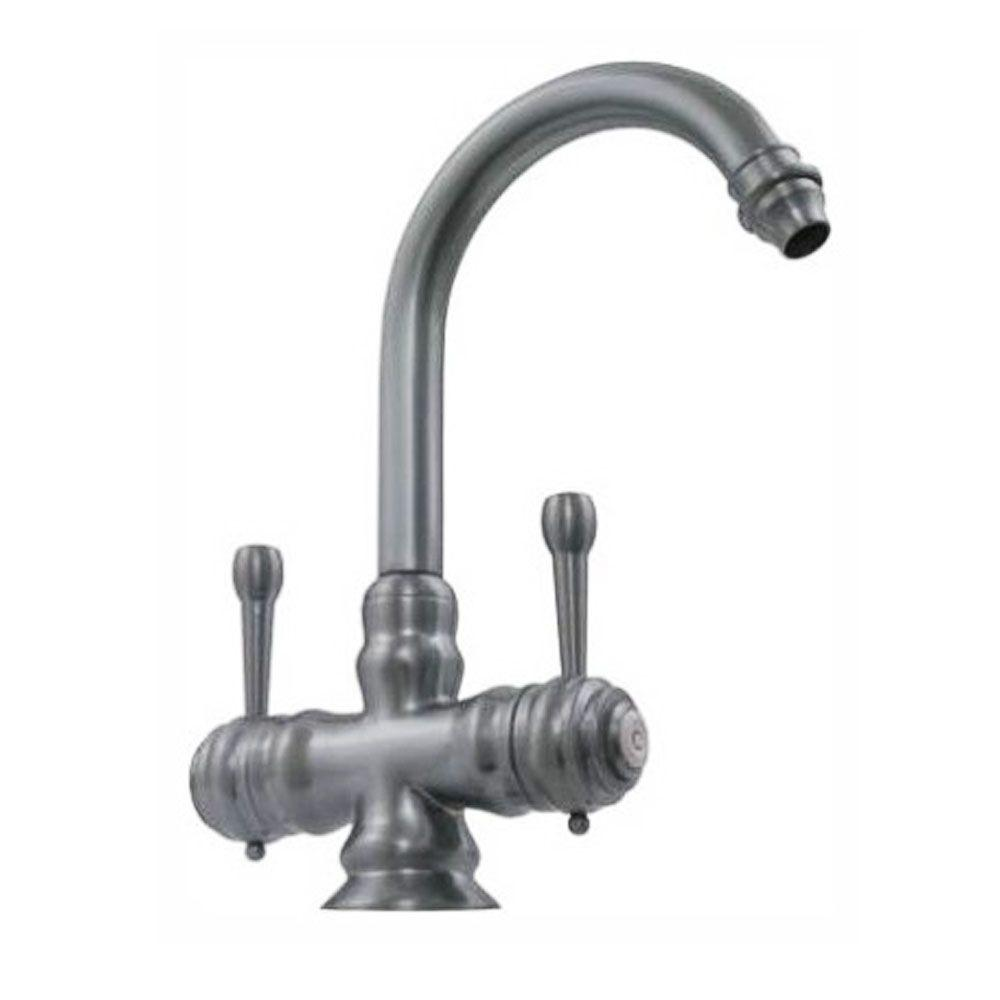 Whitehaus Collection 2-Handle Kitchen Faucet in Brushed Nickel