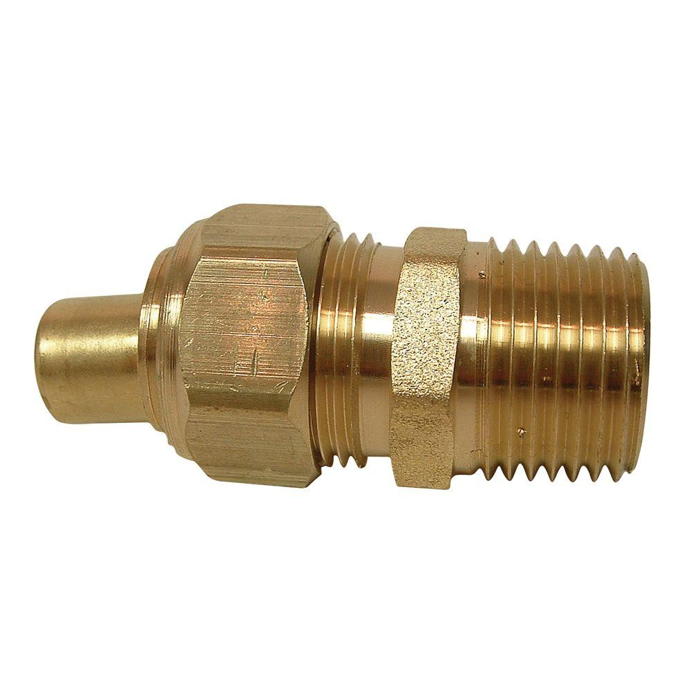 Sioux Chief 5/8 in. x 1/2 in. Brass Compression x MIP Adapter with Insert