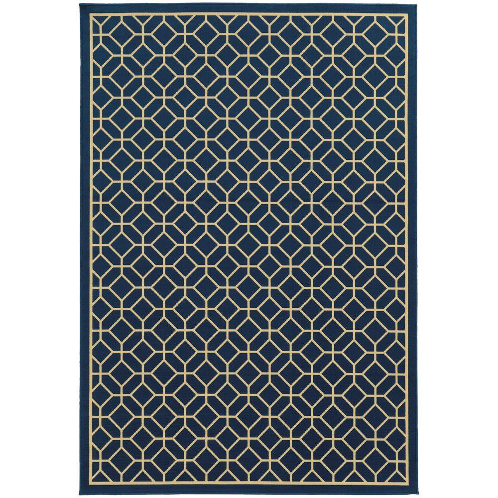 Sand Navy 8 ft. 6 in. x 13 ft. Area Rug