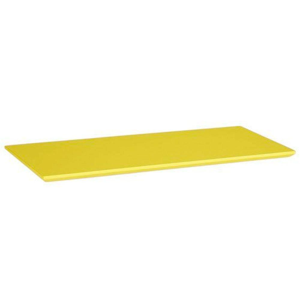 Home Decorators Collection Mantel Top Yellow Folding and Stacking 1-Shelf Bookcase