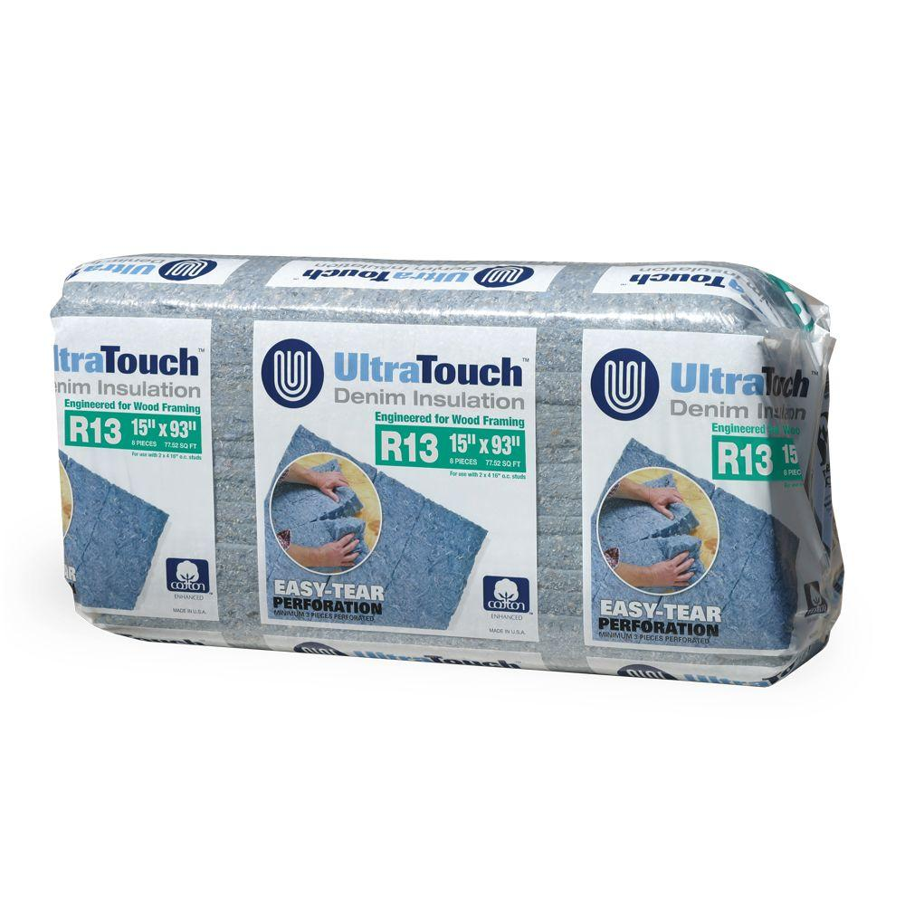 null 15 in. x 93 in. R13 Denim Insulation (12-Bags)