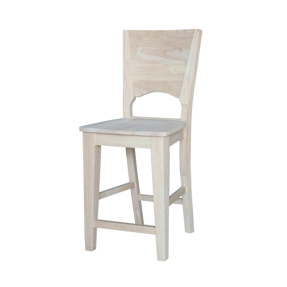 International concepts 18 in unfinished wood bar stool 1s 681 the home depot Home depot wood bar stools
