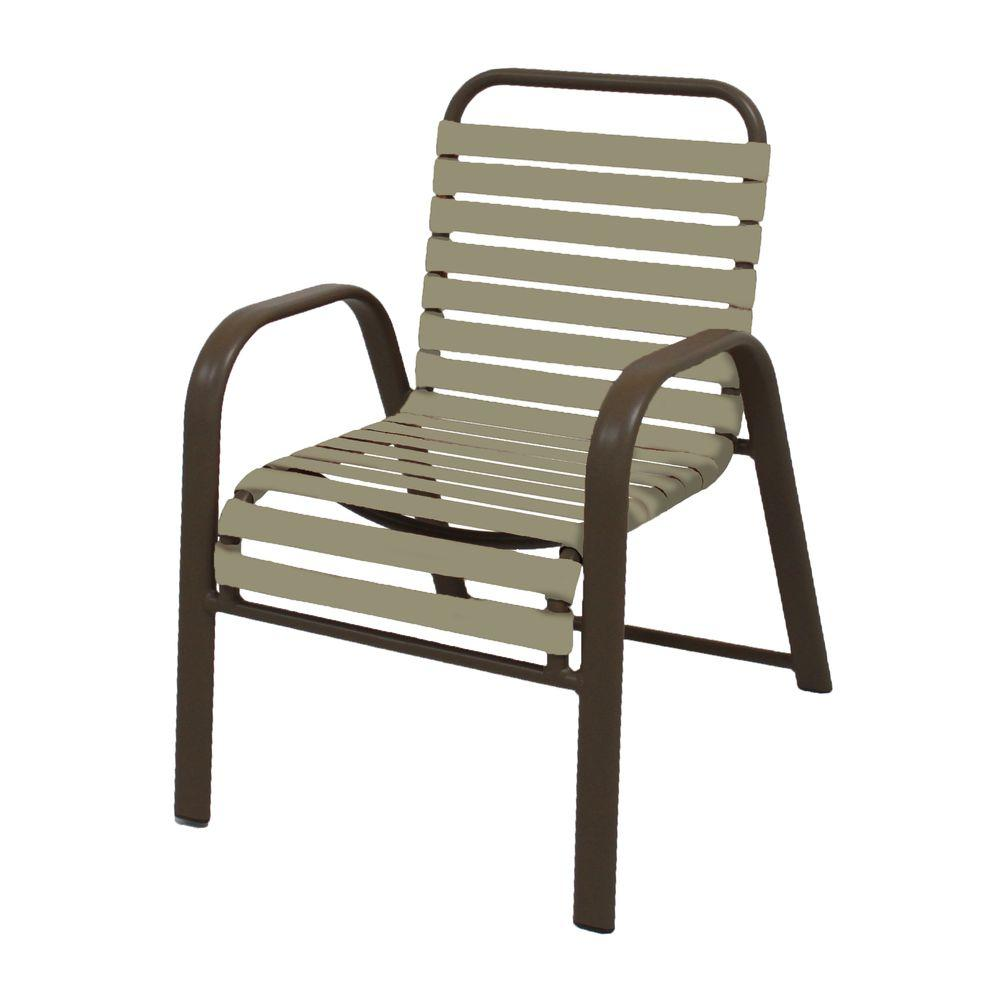 Marco island brownstone commercial grade aluminum patio for Aluminum patio chairs