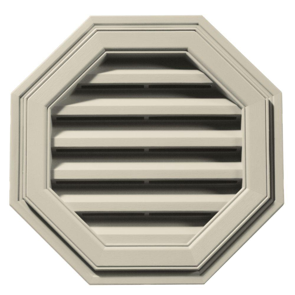 Builders Edge 18 in. Octagon Gable Vent in Champagne