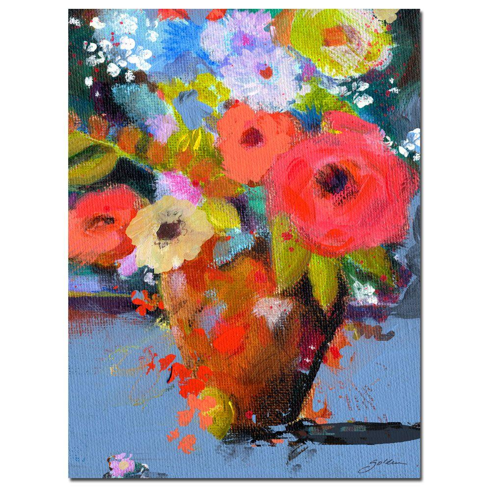24 in. x 32 in. Bouquet for Monica Canvas Art