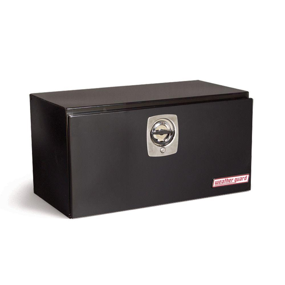 30.12 in. Steel Underbed Box in Black