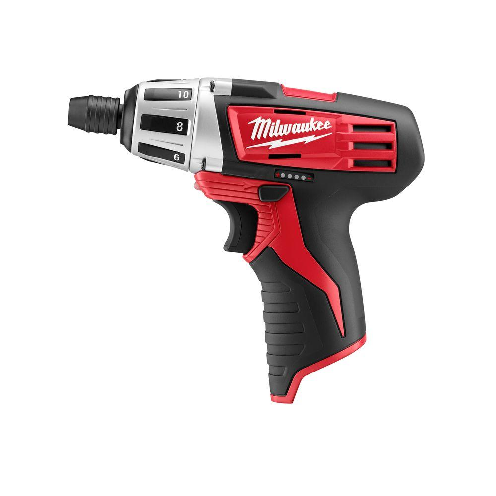 Milwaukee M12 12-Volt Lithium-Ion Cordless 1/4 in. Hex Screwdriver (Tool-Only)