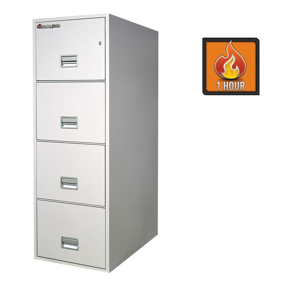 SentrySafe 4-Drawer 31 in. Deep Legal Vertical Fire File in White Glove Delivery