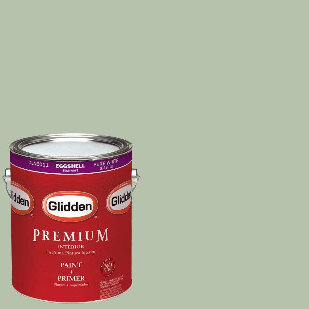 Glidden Premium 1-gal. #HDGG62D Frond Green Eggshell Latex Interior Paint with Primer