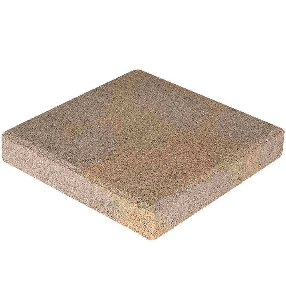 12 in. x 12 in. Brown Concrete Step Stone