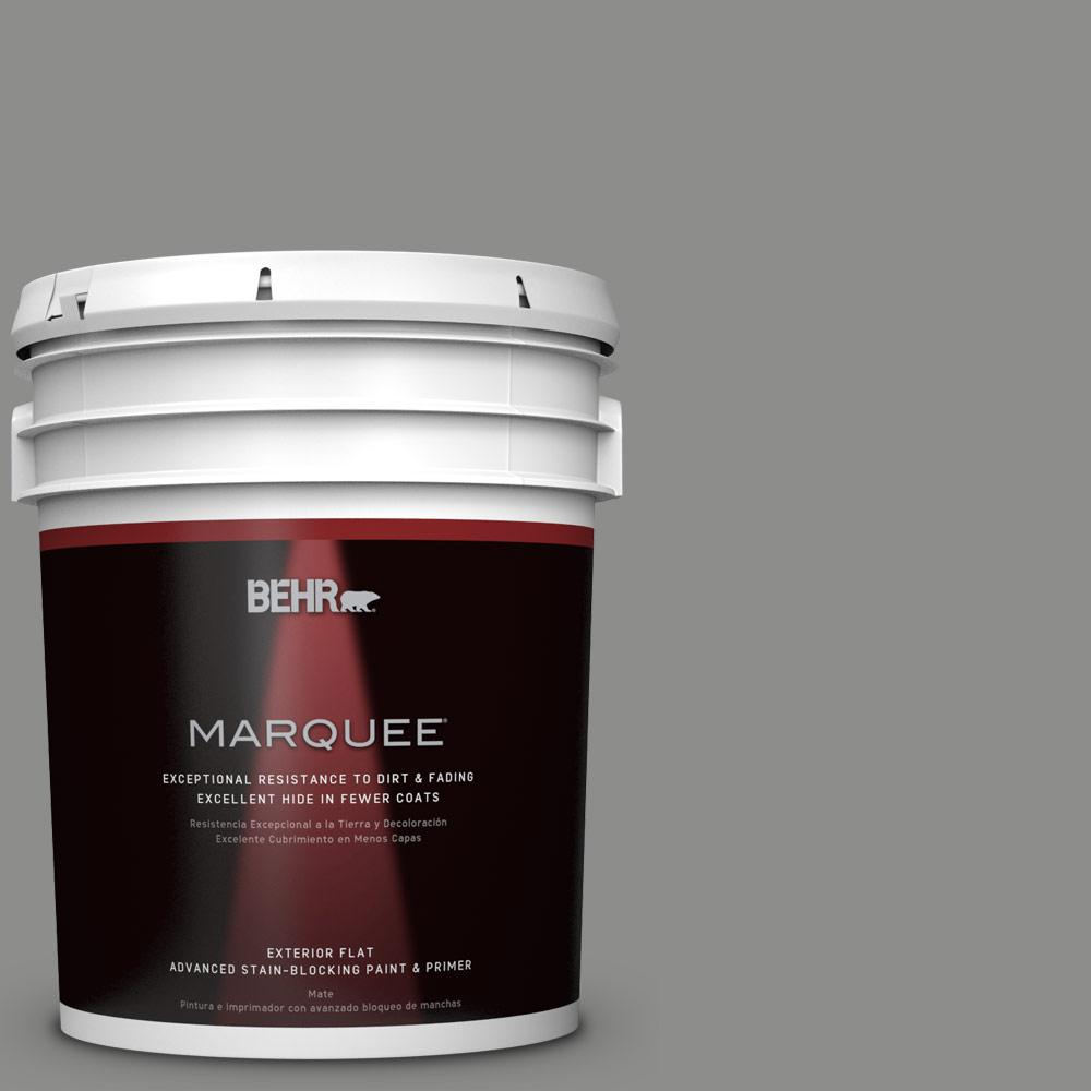 BEHR MARQUEE 5 gal. #PPU24-20 Letter Gray Matte Exterior Paint-445405 -