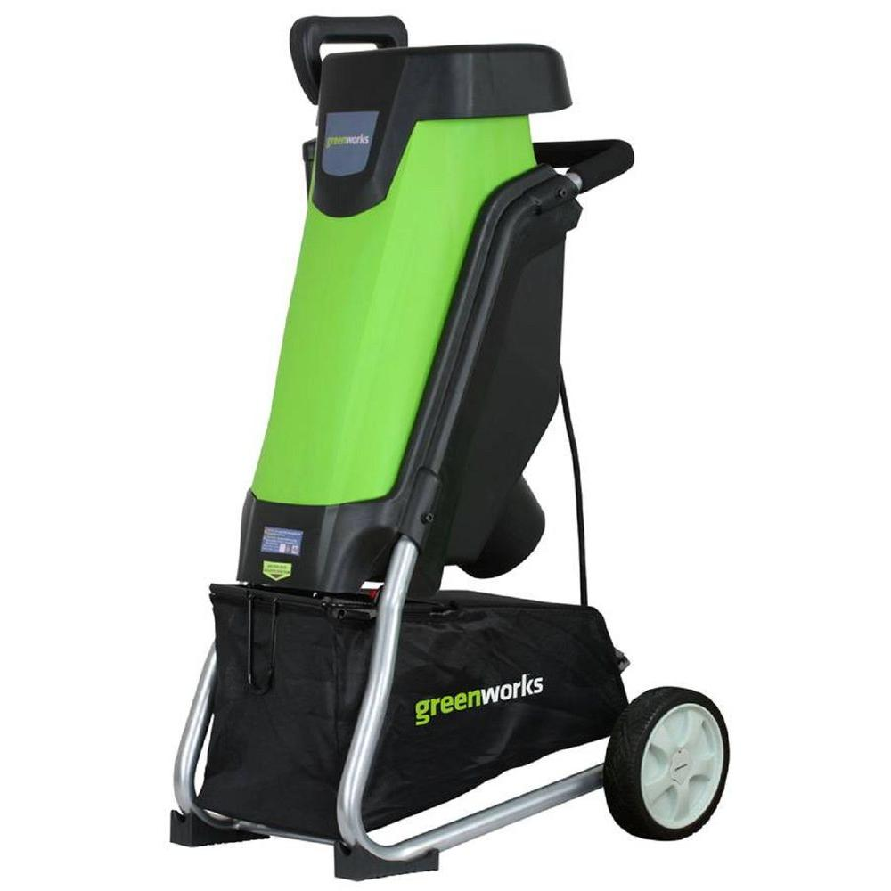 Greenworks Lawn Equipment 0.375 in. 15 Amp Electric Chipper GW24052