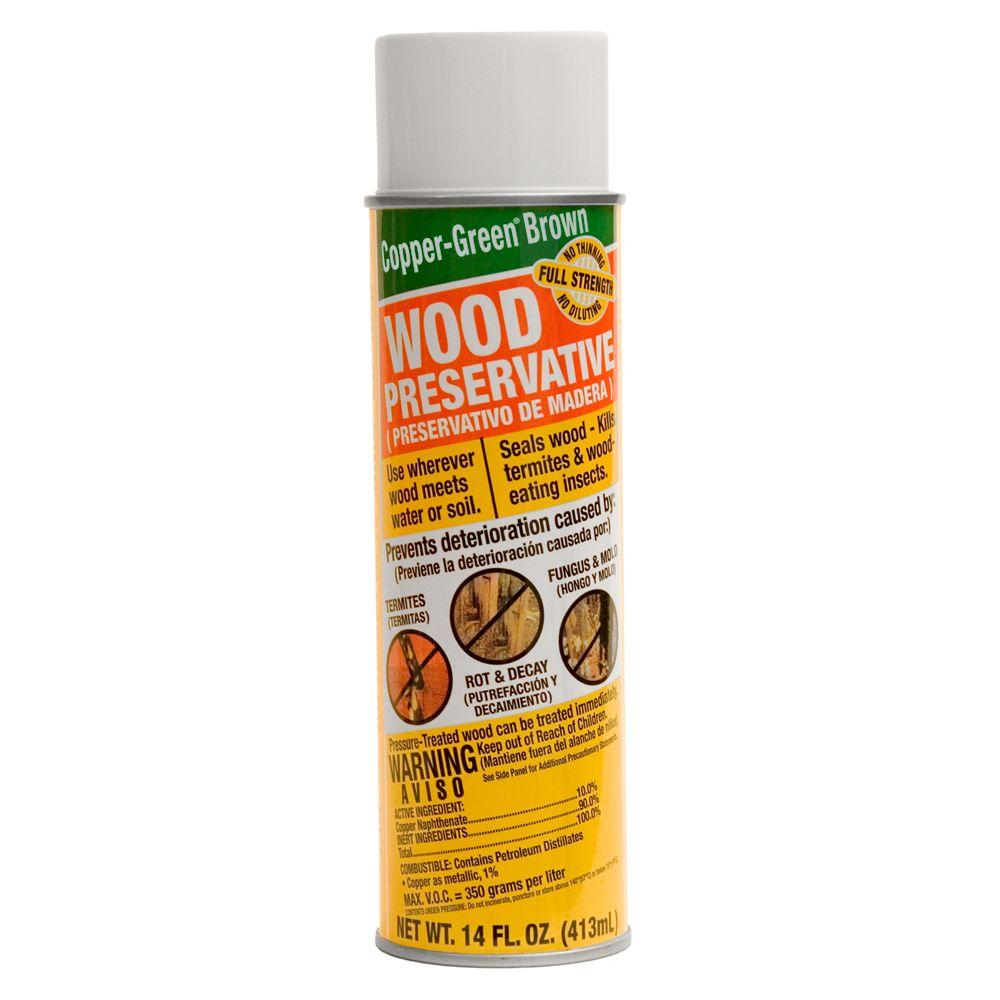 null Copper-Green Brown 14-oz. Green Wood Preservative Spray