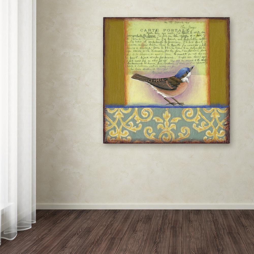 "14 in. x 14 in. ""Small Bird 233"" by Rachel Paxton"