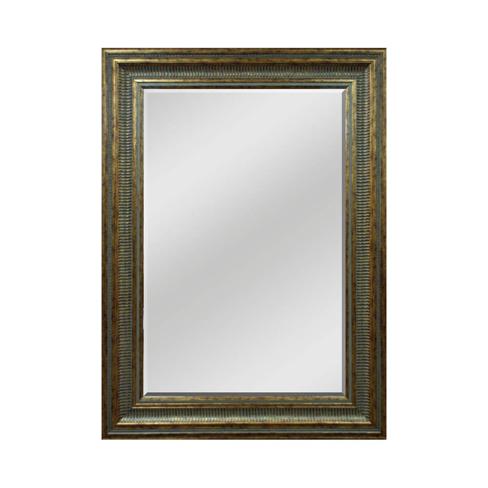 Home Decorators Collection 33-1/2 in. W x 45-1/2 in. H Decorative Framed Mirror in Dark Gold-DISCONTINUED