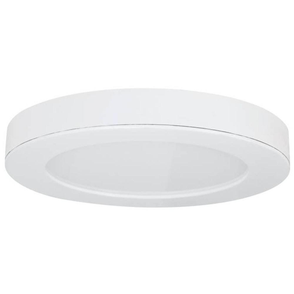 Commercial Electric Ceiling Mounted Lighting 15 in. Round White LED Edge-Lit Flat Panel Flushmount 74048/HD