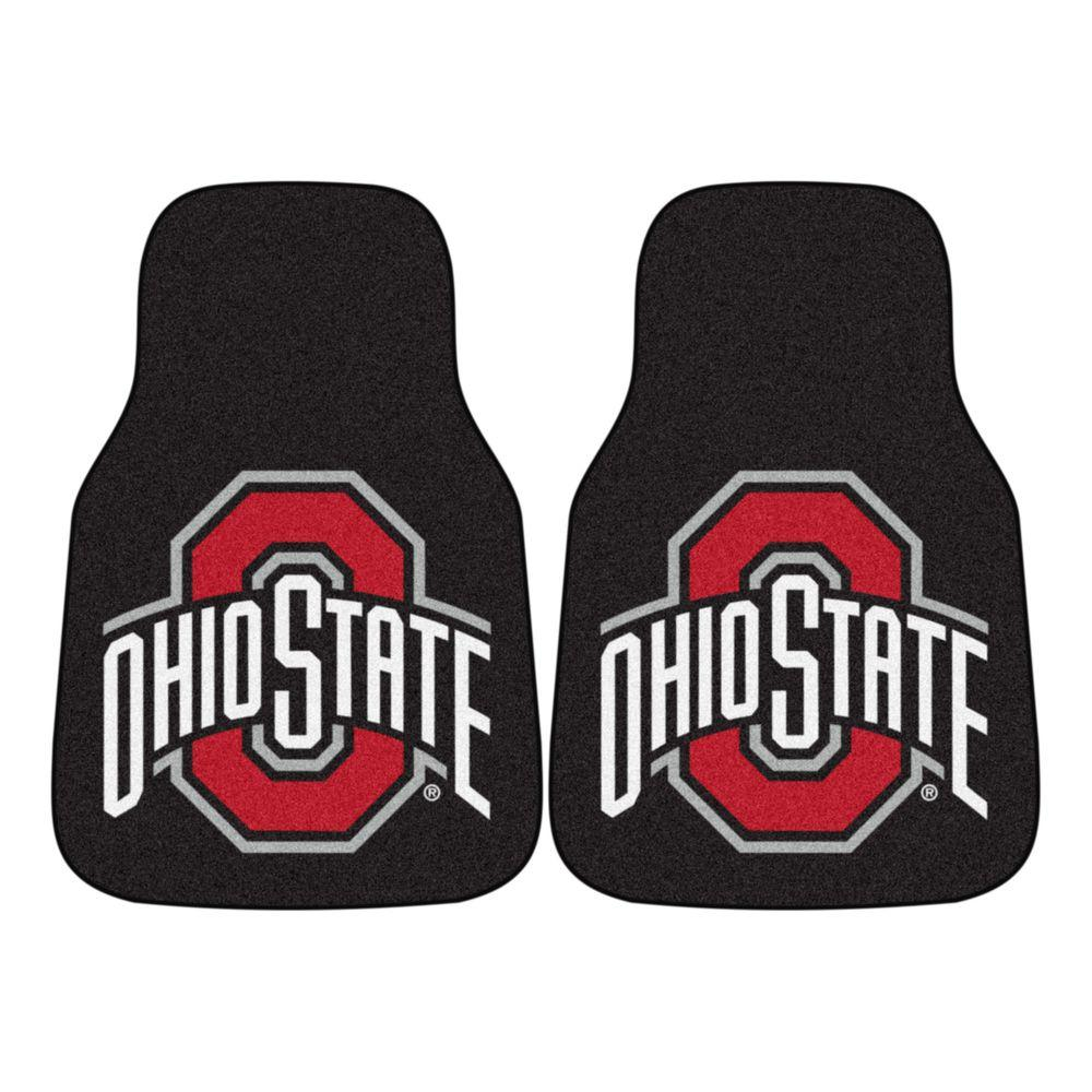 Ohio State University 18 in. x 27 in. 2-Piece Carpeted Car