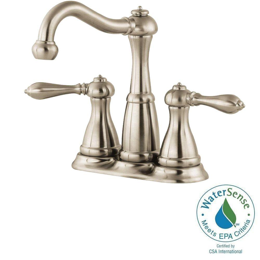 Pfister Marielle 4 in. Minispread 2-Handle High-Arc Bathroom Faucet in Brushed Nickel