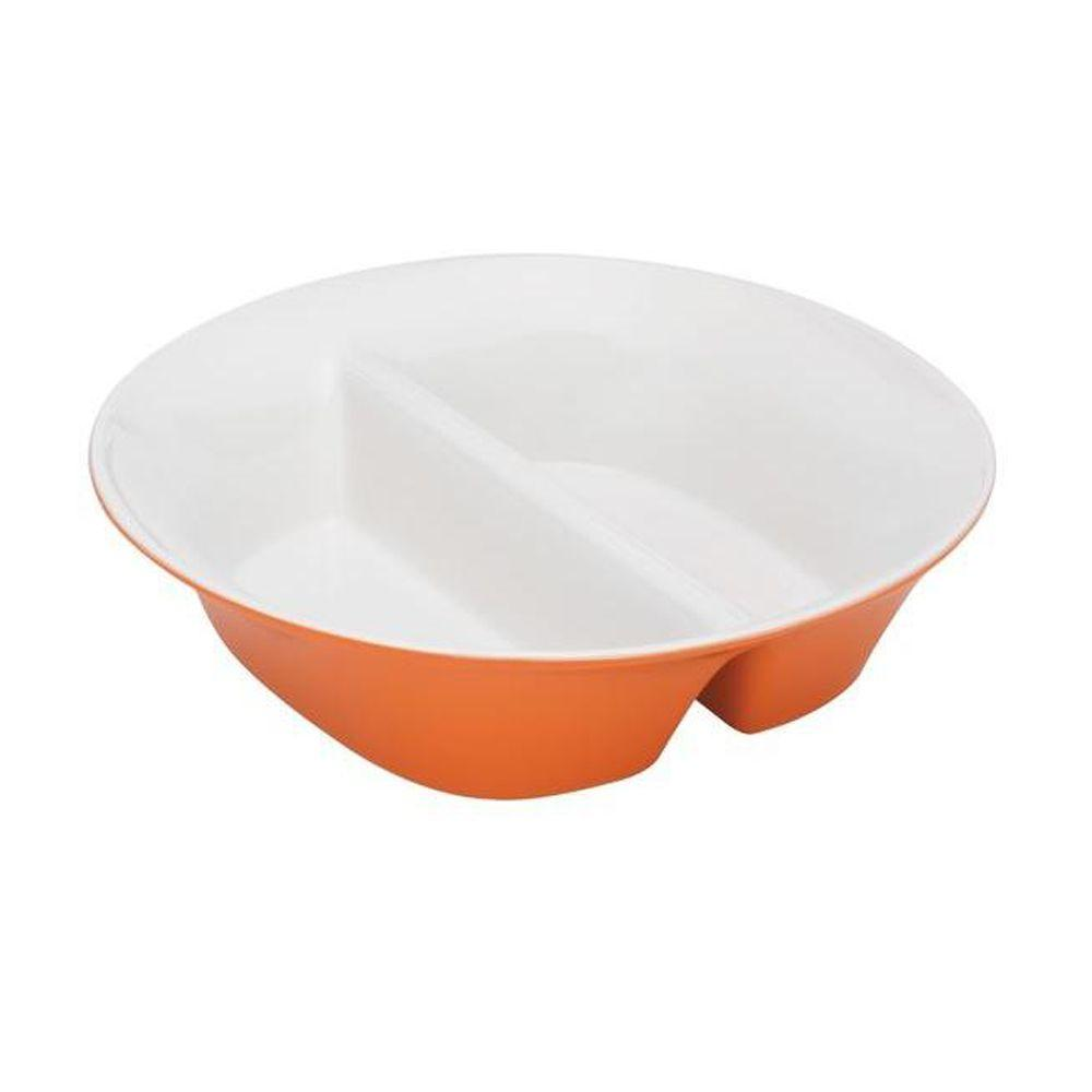 Rachael Ray Round and Square 12 in. Divided Dish in Orange