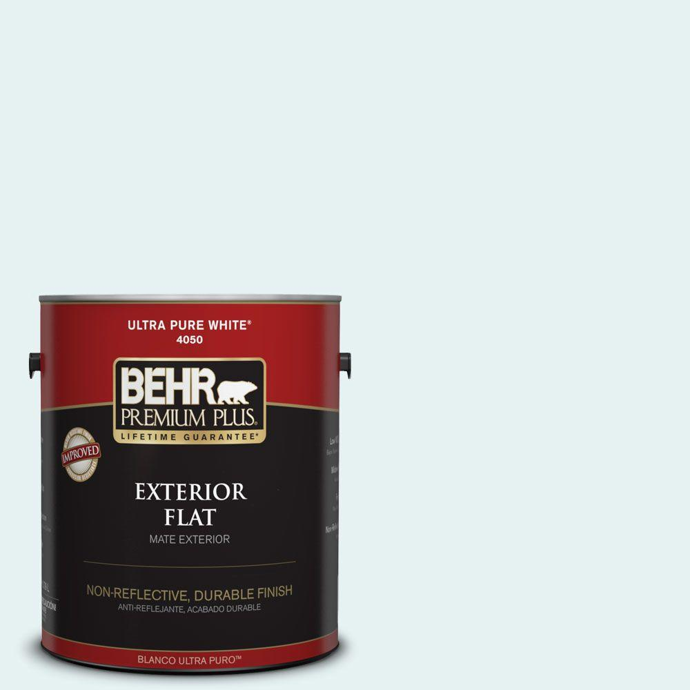 1-gal. #BL-W4 Ethereal White Flat Exterior Paint