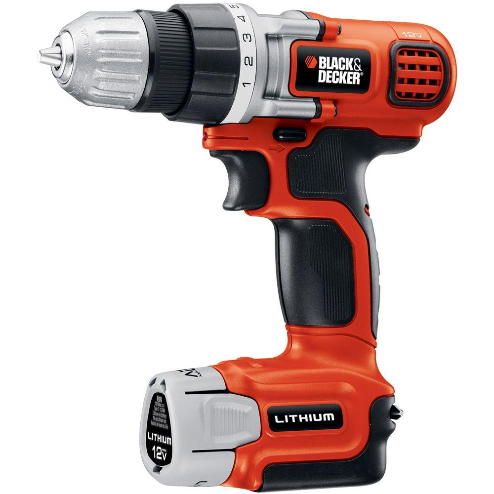 BLACK+DECKER 12-Volt MAX Lithium-Ion Cordless Drill and Driver