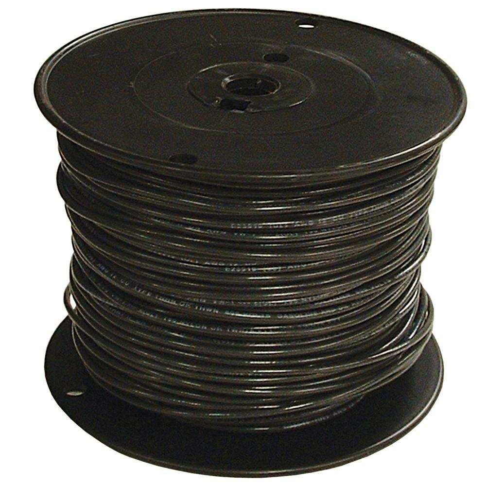 Southwire 500 ft. 2/0 Black Stranded THHN Wire